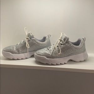 Glitter sneakers perfect condition